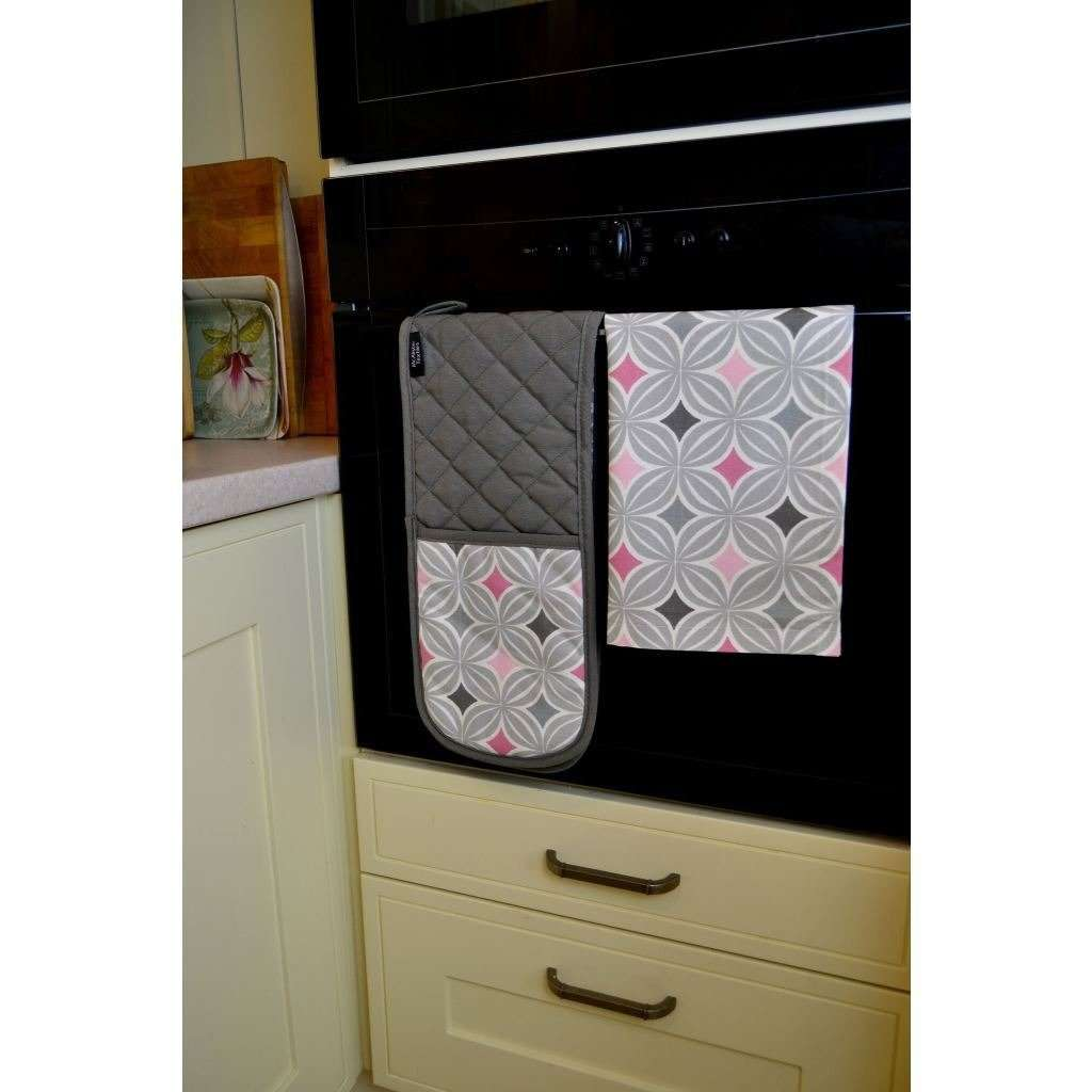 McAlister Textiles Laila Pink Cotton Print Oven Trivet Kitchen Accessories