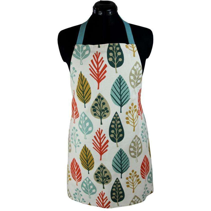 McAlister Textiles Magda Burnt Orange Cotton Print Apron Kitchen Accessories