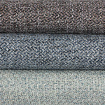 Charger l'image dans la galerie, McAlister Textiles Harris Charcoal Grey and Blue Tweed Roman Blinds Roman Blinds