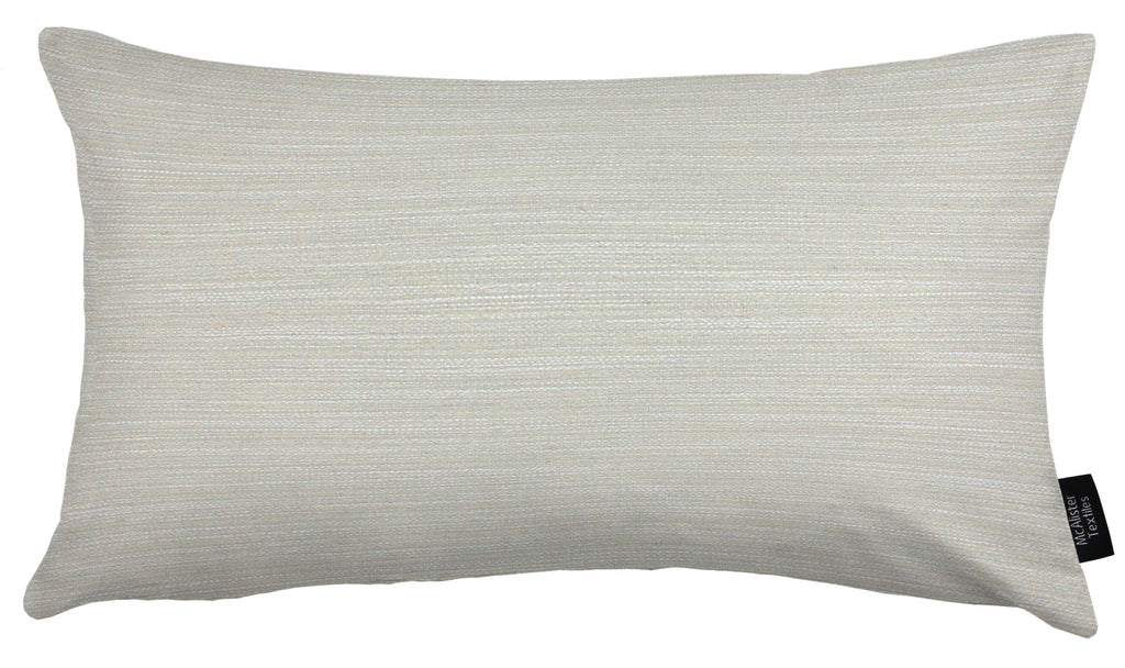 McAlister Textiles Hamleton Natural Textured Plain Cushion Cushions and Covers Cover Only 50cm x 30cm