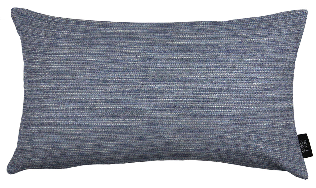 McAlister Textiles Hamleton Navy Blue Textured Plain Pillow Pillow Cover Only 50cm x 30cm