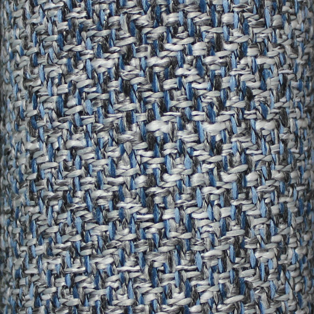 McAlister Textiles Harris Velvet Border Tweed Pillow - Blue & Grey Pillow