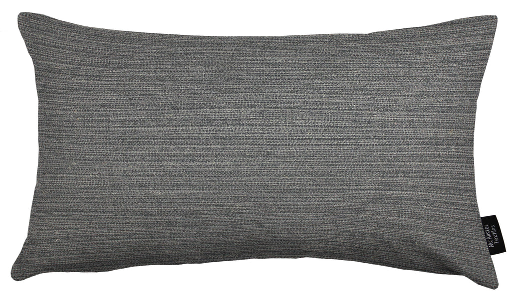 McAlister Textiles Hamleton Charcoal Grey Textured Plain Cushion Cushions and Covers Cover Only 50cm x 30cm