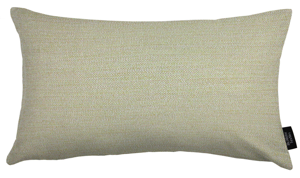 McAlister Textiles Hamleton Soft Green Textured Plain Pillow Pillow Cover Only 50cm x 30cm