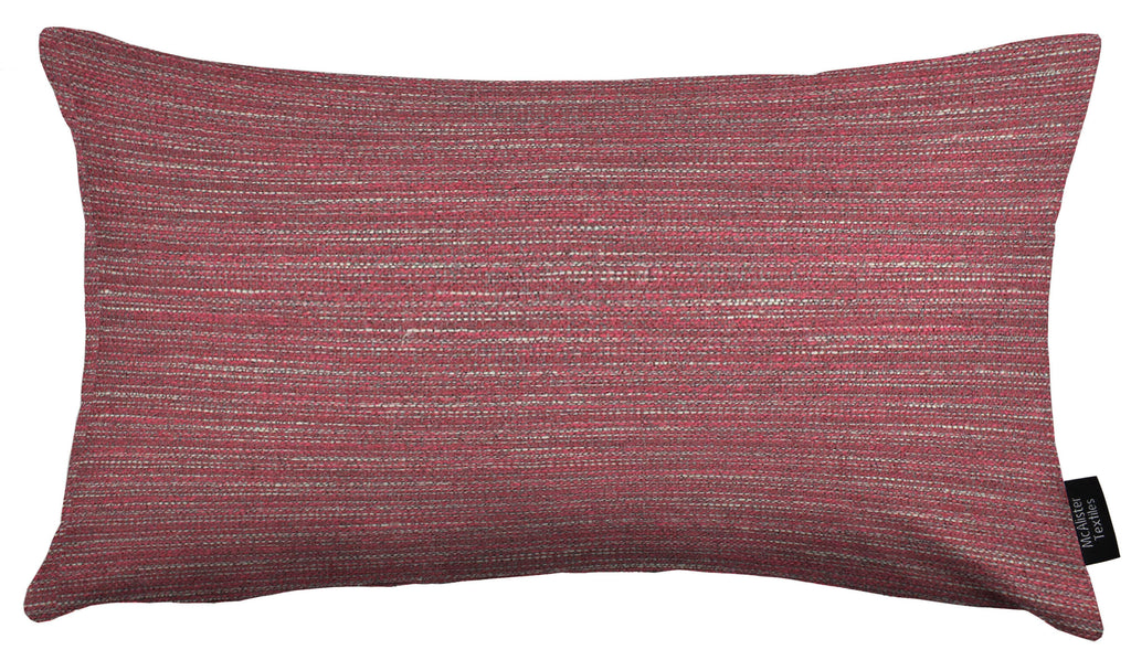 McAlister Textiles Hamleton Red Textured Plain Cushion Cushions and Covers Cover Only 50cm x 30cm