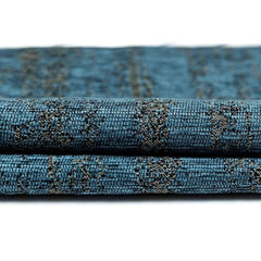 McAlister Textiles Distressed Textured Denim Blue Chenille Fabric-Fabrics-