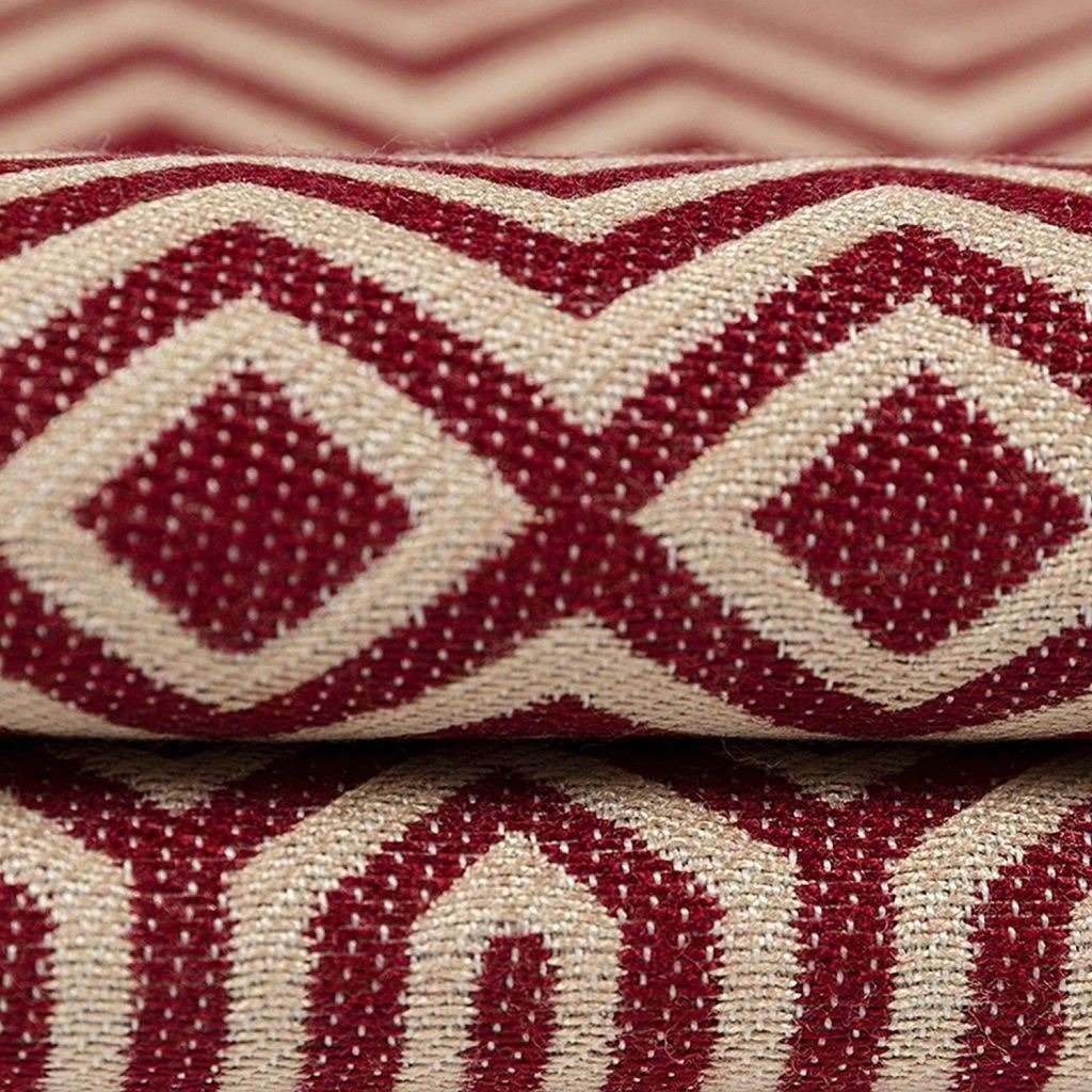 McAlister Textiles Colorado Geometric Red Fabric Fabrics