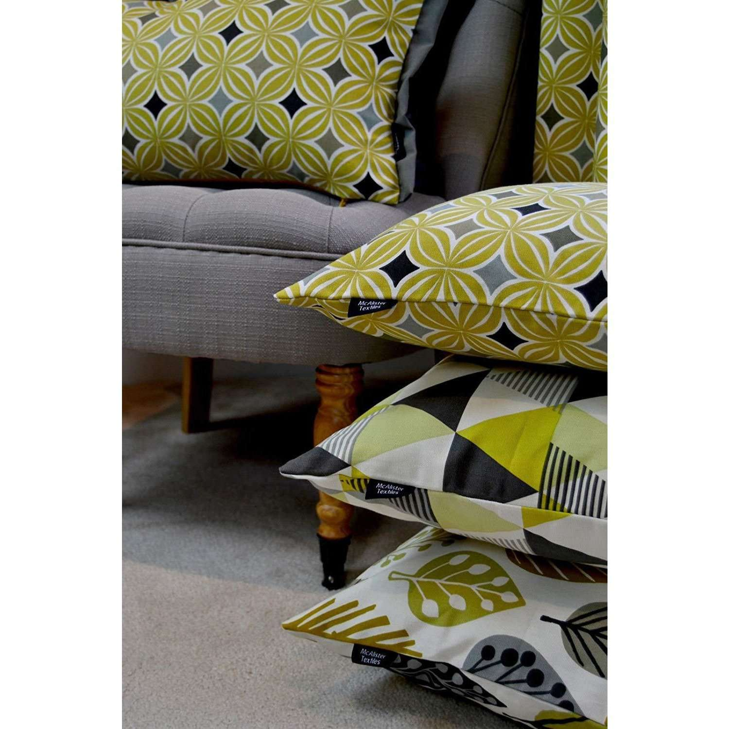 McAlister Textiles Laila Cotton Ochre Yellow Curtains Tailored Curtains