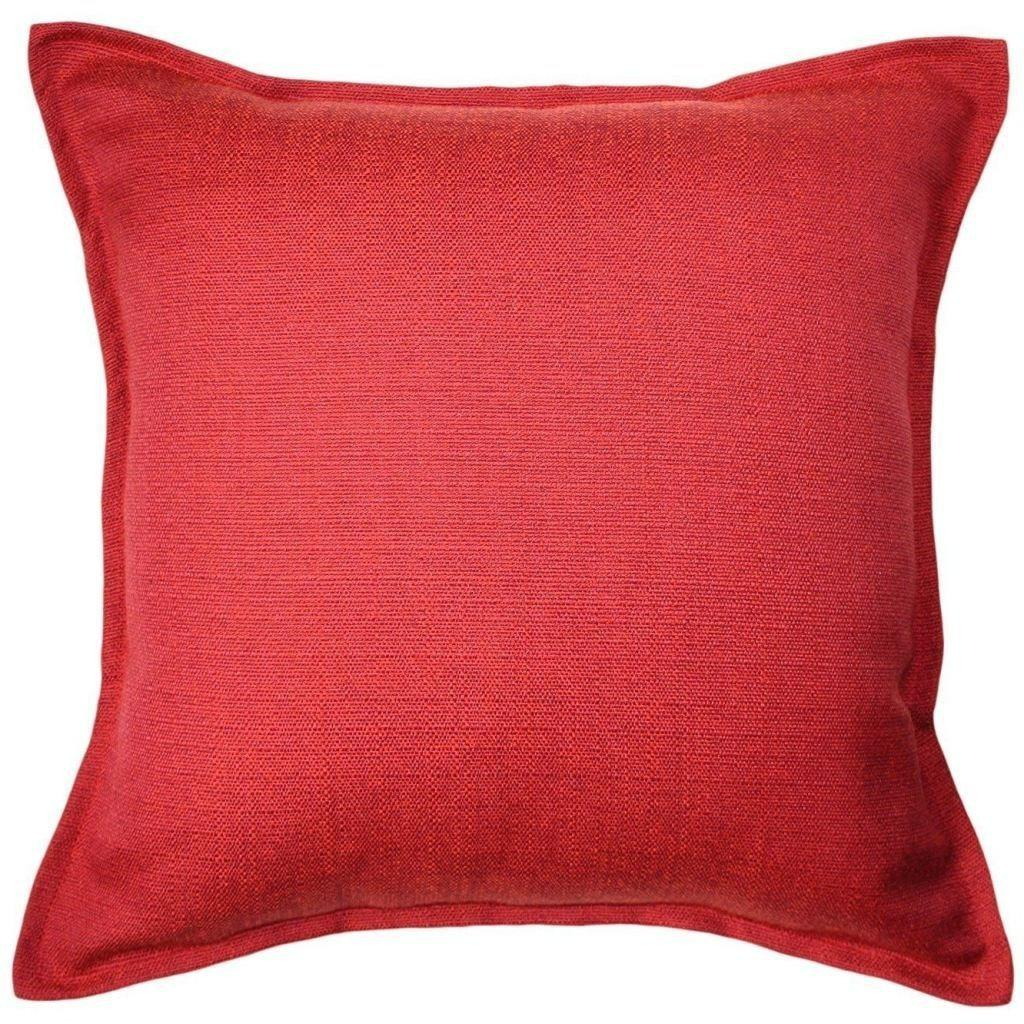 McAlister Textiles Savannah Wine Red Cushion Cushions and Covers Cover Only 43cm x 43cm