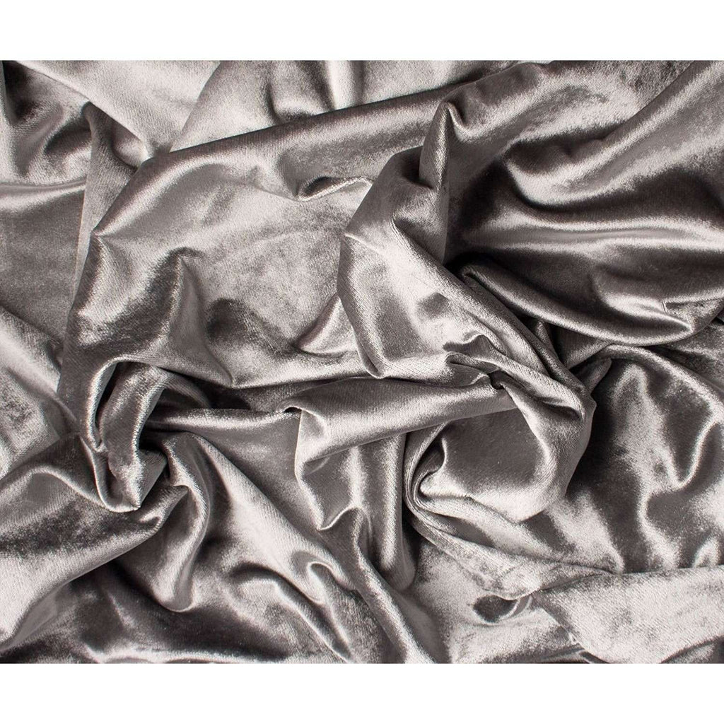 McAlister Textiles Crushed Velvet Silver Fabric Fabrics