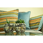 Load image into Gallery viewer, McAlister Textiles Curitiba Aztec Orange + Teal Door Stop Doorstops