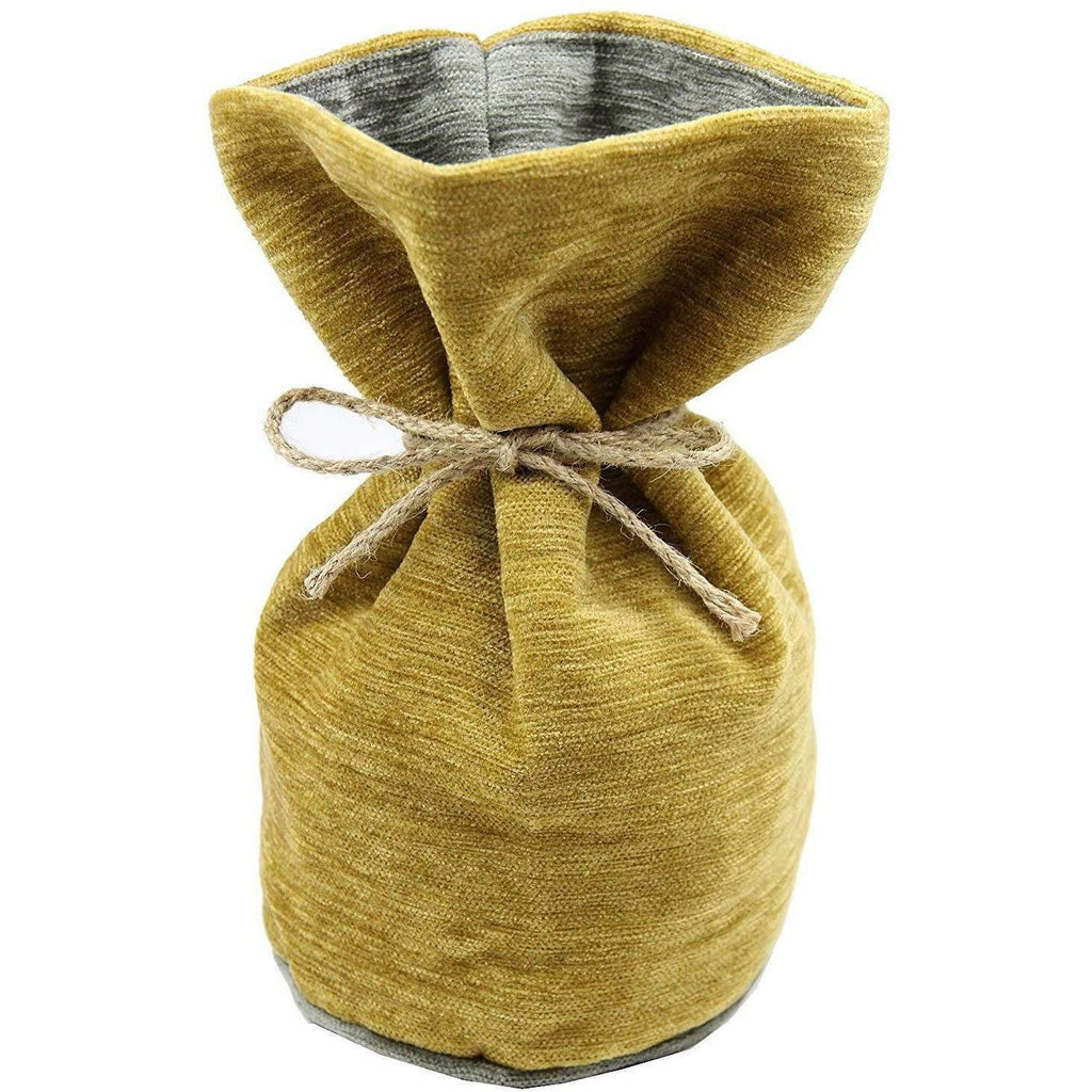 McAlister Textiles Alston Chenille Yellow + Grey Door Stop Doorstops