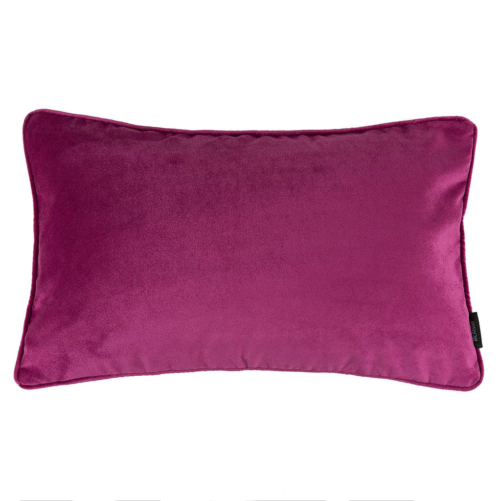McAlister Textiles Matt Fuchsia Pink Velvet Cushion Cushions and Covers Cover Only 50cm x 30cm