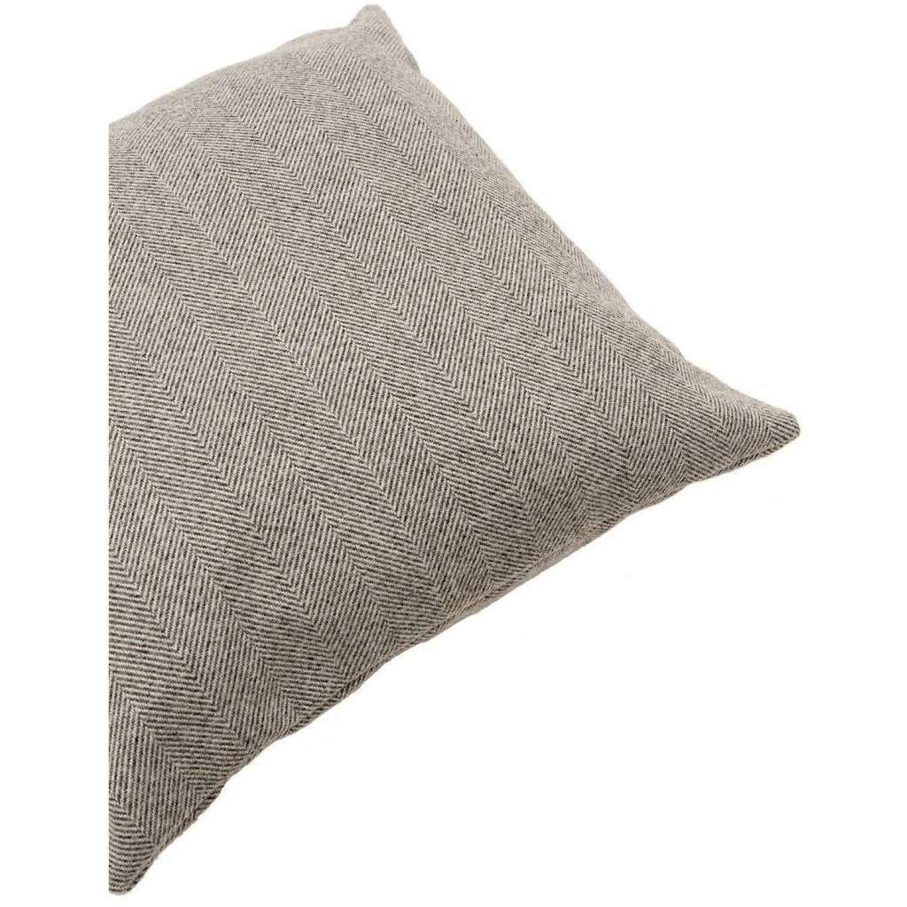 McAlister Textiles Herringbone Charcoal Grey Pillow Pillow