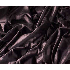 McAlister Textiles Shiny Crushed Velvet Feel Aubergine Purple Throws & Runners-Throws and Runners-