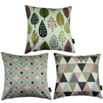 Load image into Gallery viewer, McAlister Textiles Geometric Blush Pink Cushion 43cm x 43cm Set of 3 Cushions and Covers Cover Only