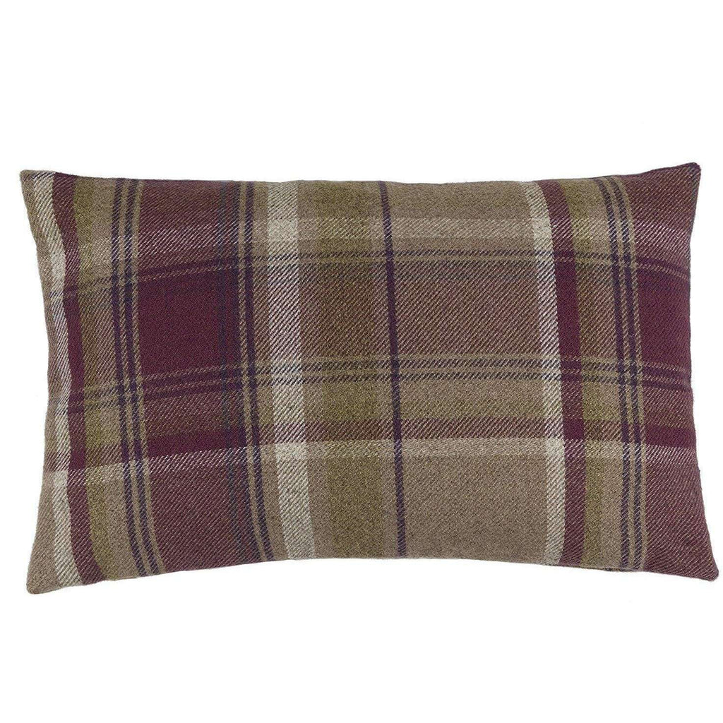 McAlister Textiles Heritage Purple + Green Tartan Cushion Cushions and Covers Cover Only 50cm x 30cm