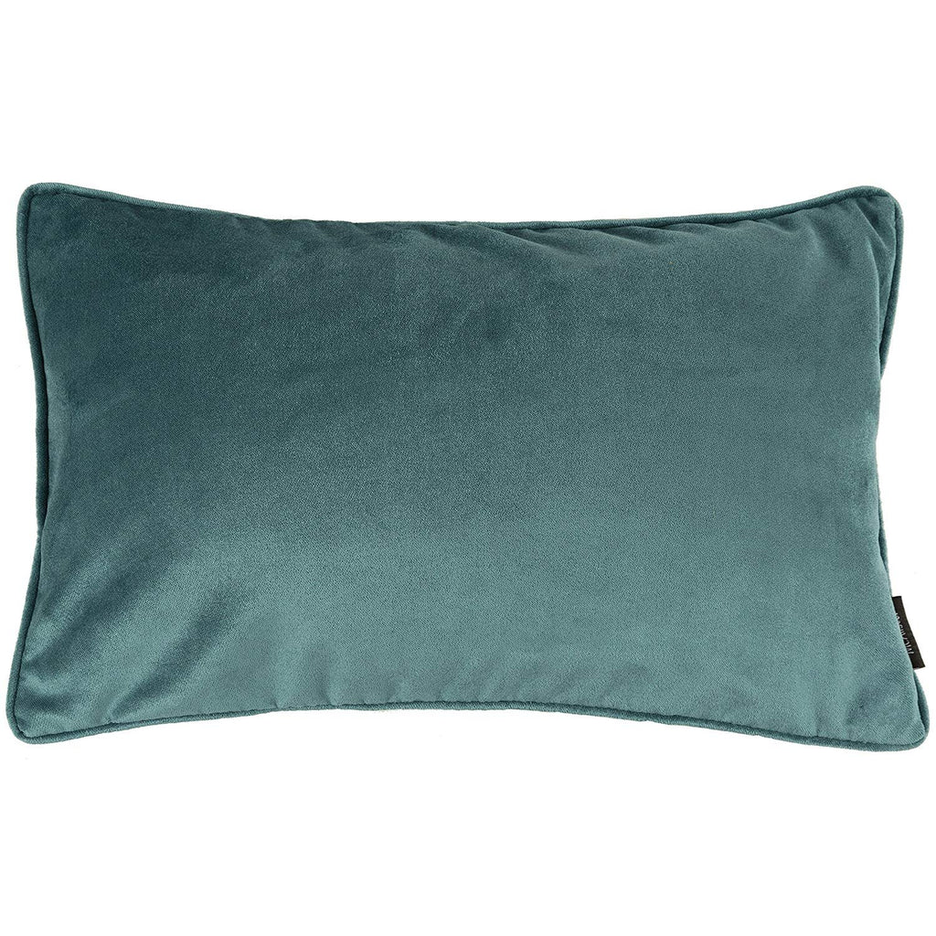 McAlister Textiles Matt Blue Teal Velvet Cushion Cushions and Covers Cover Only 60cm x 40cm