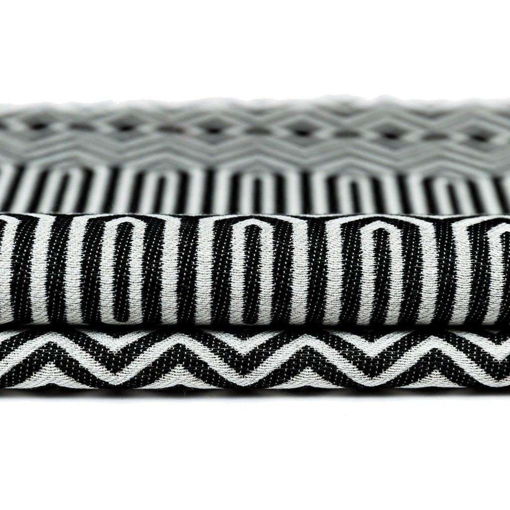 McAlister Textiles Colorado Geometric Black Fabric Fabrics
