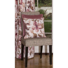 McAlister Textiles Blush Floral Velvet Print Tailored Curtains Made To Measure Chenille Fabric Watercolour Pink Flowers Cushion Cover