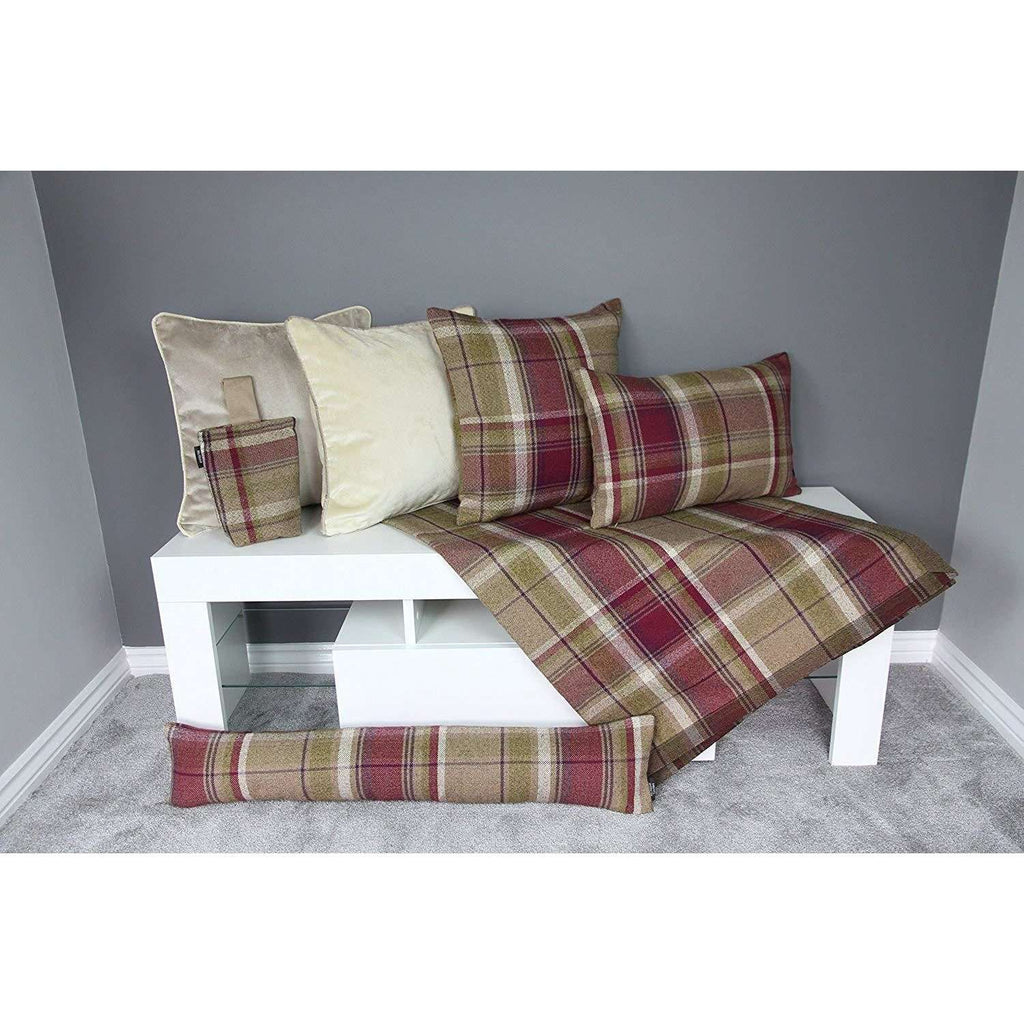 McAlister Textiles Heritage Purple + Green Tartan 43cm x 43cm Cushion Sets Cushions and Covers