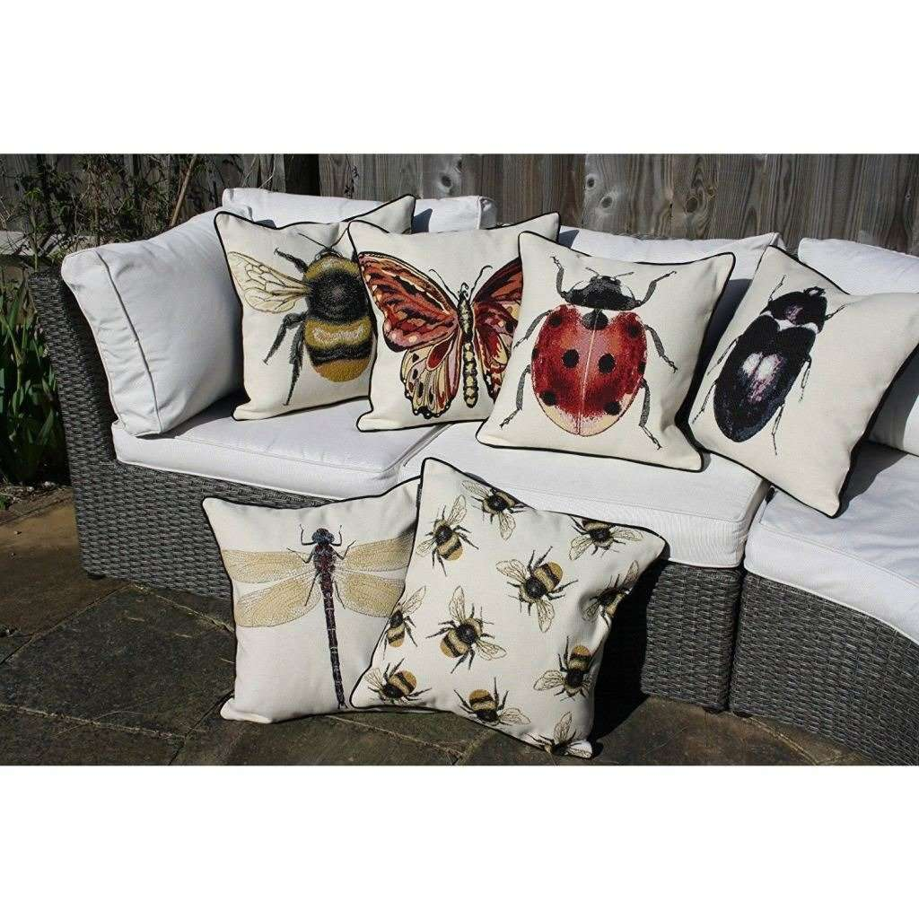 McAlister Textiles Bug's Life Bumble Bees Cushion Cushions and Covers
