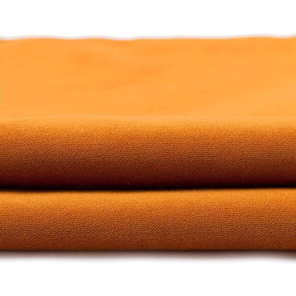 McAlister Textiles Matt Burnt Orange Velvet Fabric Fabrics