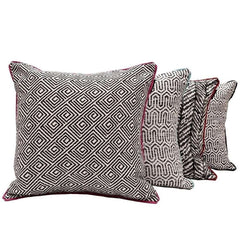 McAlister Textiles Geometric Pattern Fabric Cushion Pillow Cover Black & White Design Range