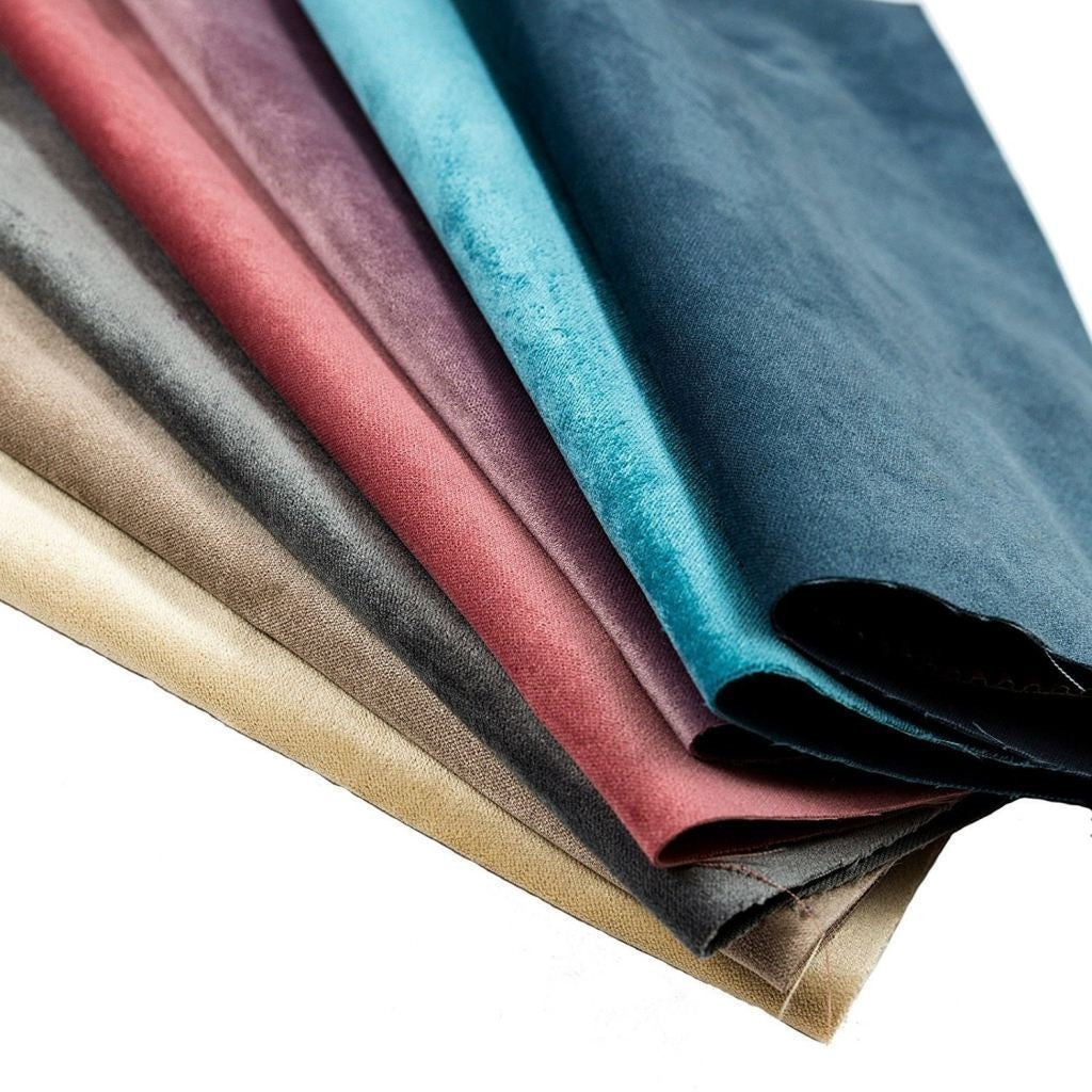 McAlister Textiles Matt Duck Egg Blue Velvet Throw Blankets & Runners Throws and Runners