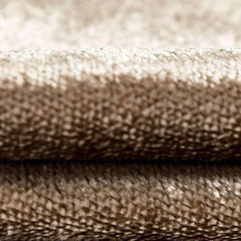 McAlister Textiles Beige Mink Crushed Velvet Throws & Runners Throws and Runners