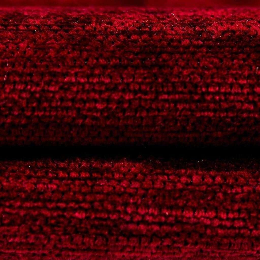 McAlister Textiles Plain Chenille Red Cushion Cushions and Covers
