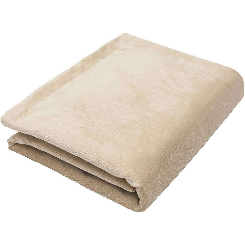 McAlister Textiles Matt Champagne Gold Velvet Throw Blanket Throws and Runners Bed Runner (50cm x 240cm)