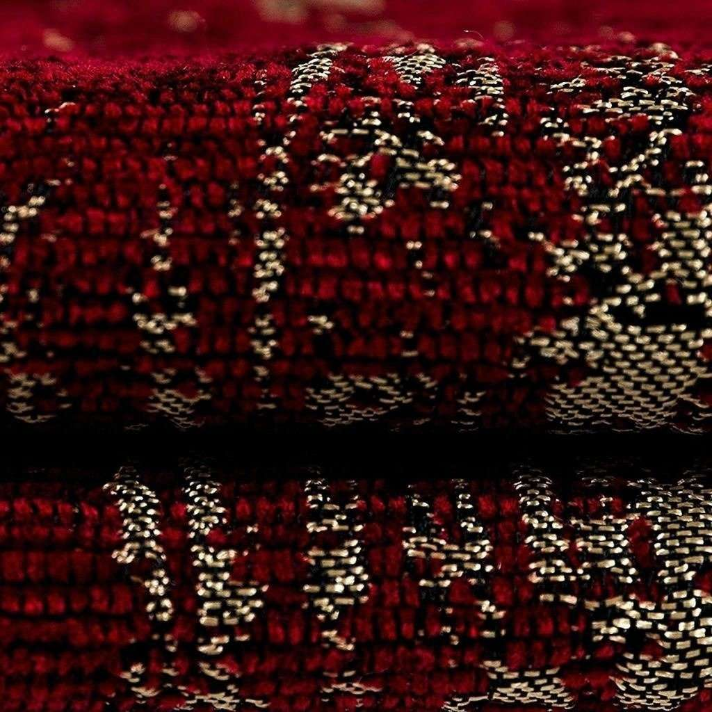 McAlister Textiles Textured Chenille Wine Red Pillow Pillow