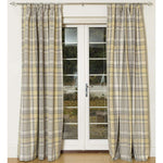 Charger l'image dans la galerie, McAlister Textiles Heritage Tartan Mustard Yellow + Grey Curtain Fabric Fabrics