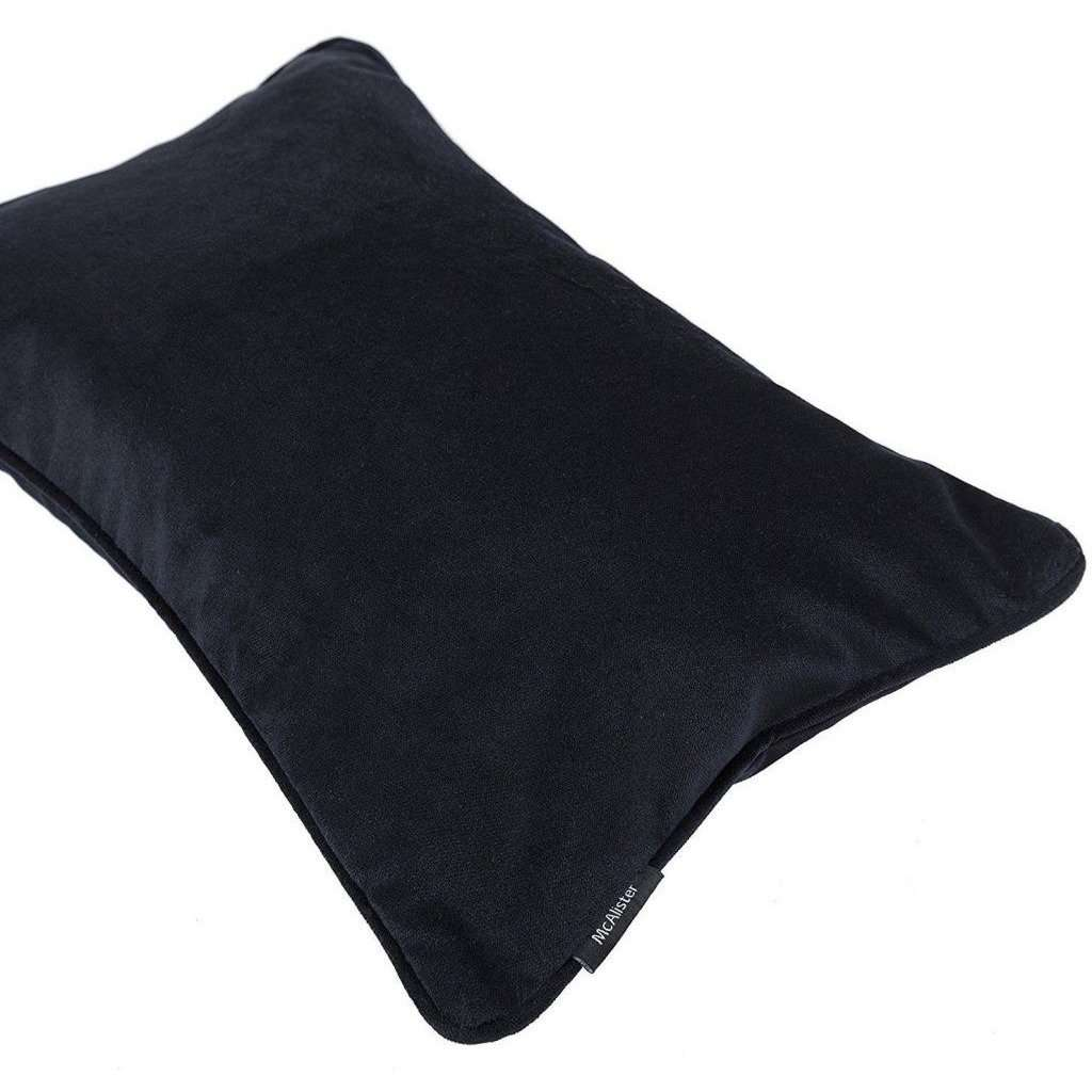 McAlister Textiles Matt Black Velvet Cushion Cushions and Covers
