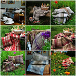 Load image into Gallery viewer, McAlister Textiles Heritage Purple + Green Tartan Throw Throws and Runners