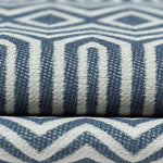 Load image into Gallery viewer, McAlister Textiles Colorado Geometric Navy Blue Fabric Fabrics