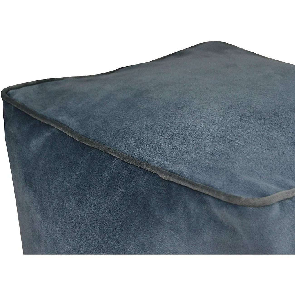 McAlister Textiles Deluxe Velvet Petrol Blue Cube Seat Stool Square Stool