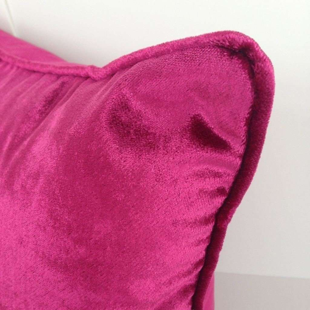 McAlister Textiles Fuchsia Pink Crushed Velvet Cushions Cushions and Covers
