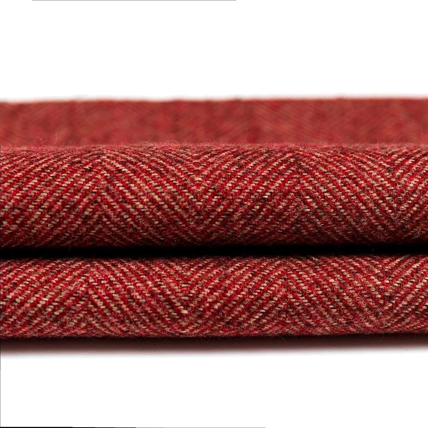 McAlister Textiles Herringbone Boutique Red + Grey Door Stop Doorstops