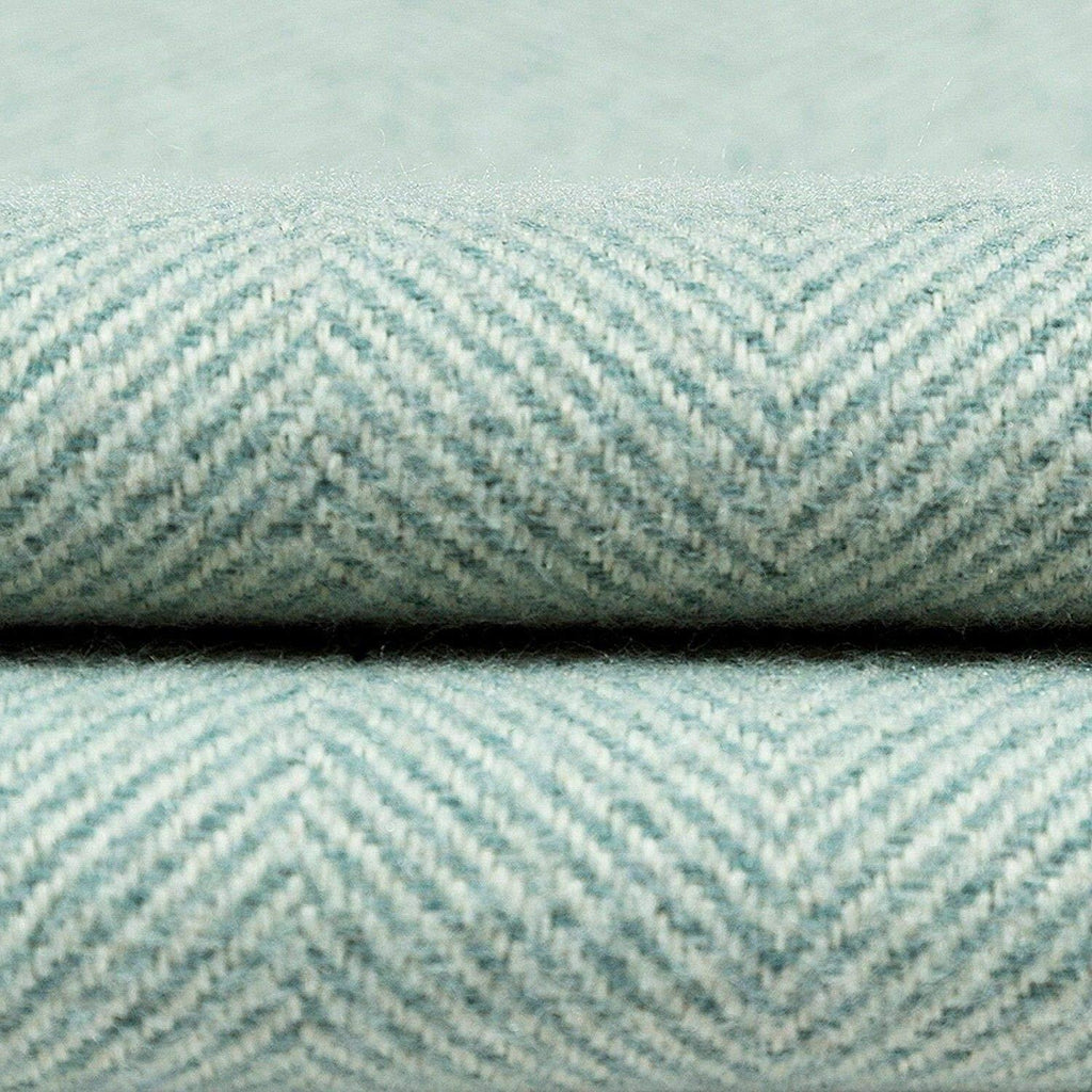 McAlister Textiles Deluxe Herringbone Duck Egg Blue Floor Cushion Floor Cushions