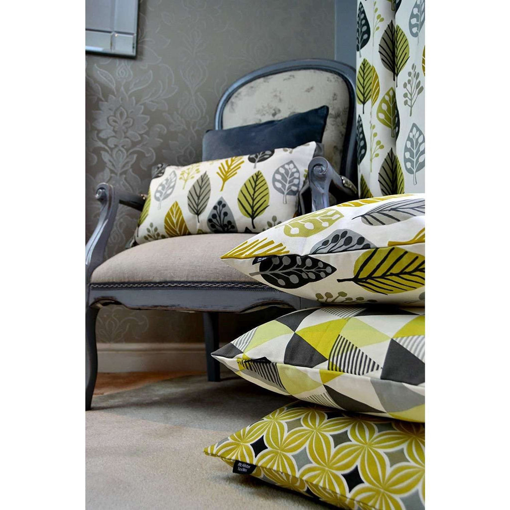 McAlister Textiles Copenhagen Ochre Yellow 43cm x 43cm Cushion Set of 3 Cushions and Covers