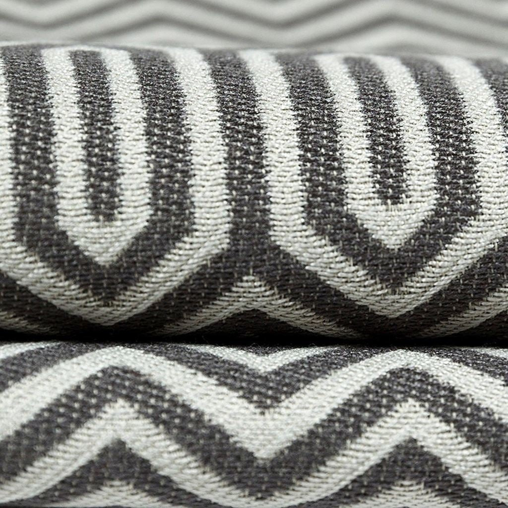 McAlister Textiles Colorado Geometric Charcoal Grey Fabric Fabrics