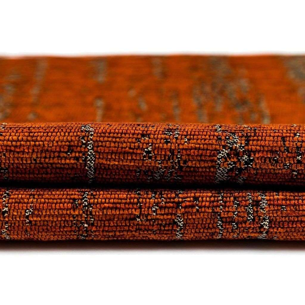 McAlister Textiles Textured Chenille Burnt Orange Fabric Fabrics