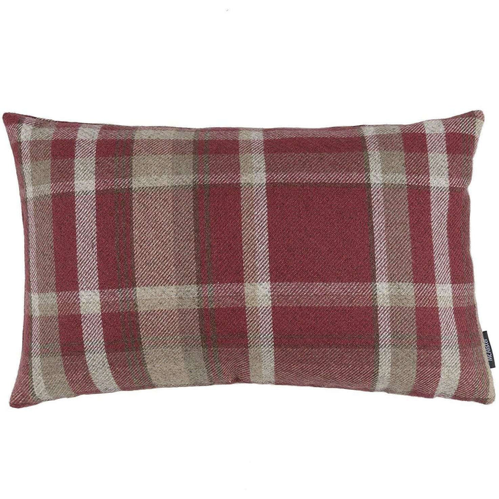 McAlister Textiles Heritage Red + White Tartan Cushion Cushions and Covers Cover Only 50cm x 30cm