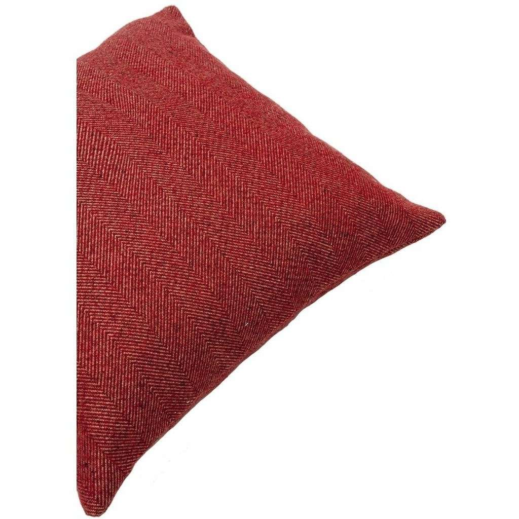 McAlister Textiles Herringbone Red Cushion Cushions and Covers
