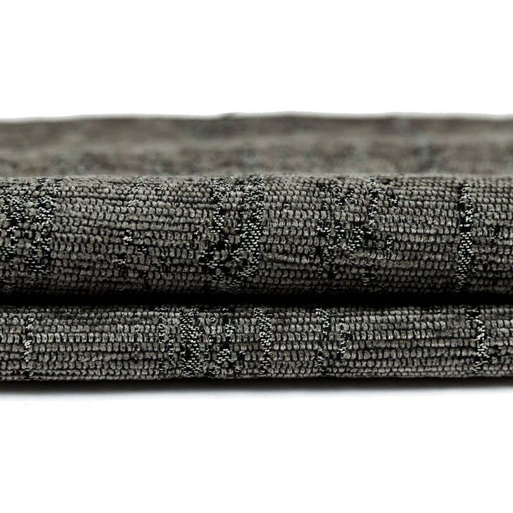 McAlister Textiles Textured Chenille Charcoal Grey Fabric Fabrics