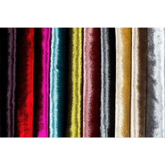 McAlister Textiles Shiny Lightly Crushed Velvet Fuchsia Pink Fabric-Fabrics-