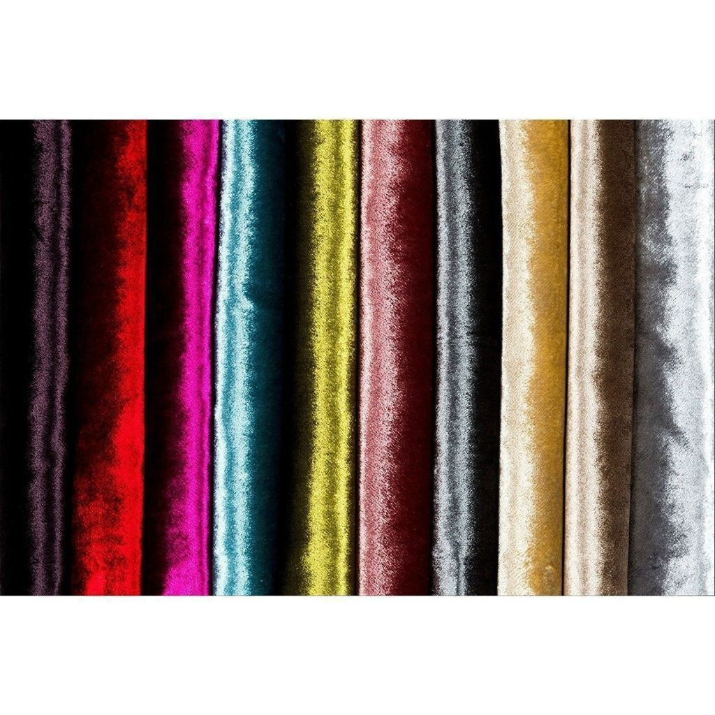 McAlister Textiles Silver Crushed Velvet Curtains Tailored Curtains