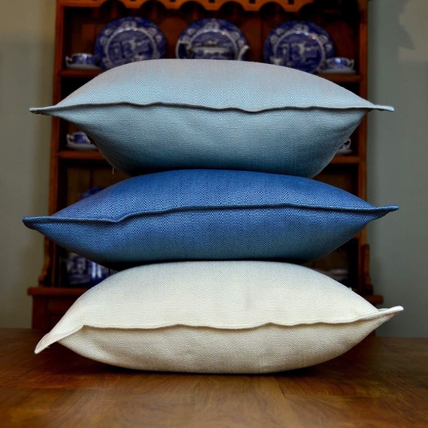 McAlister Textiles Savannah Duck Egg Blue Cushion Cushions and Covers